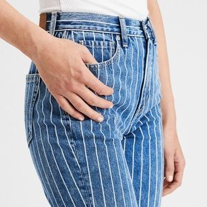 AE Retro Striped Mom Jeans